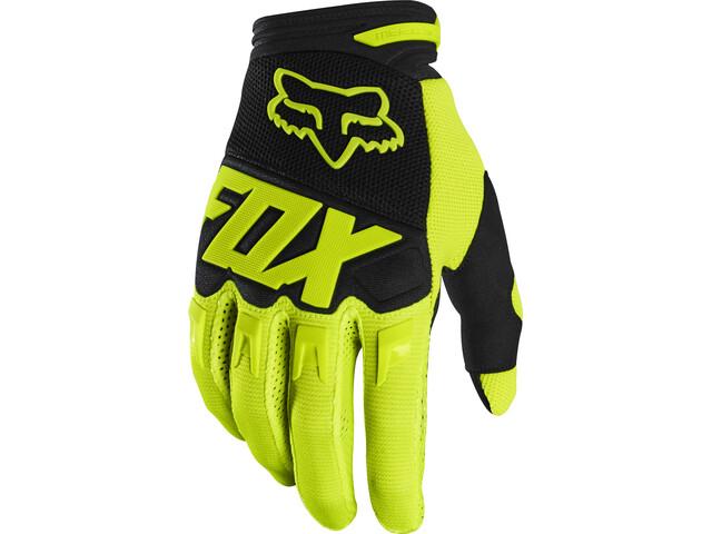 Fox Dirtpaw Race Gloves Men fluorescent yellow